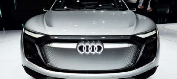 (FILES) In this file photo taken on April 20, 2017, an Audi e-tron Sportback Concept car is displayed during the 17th Shanghai International Automobile Industry Exhibition in Shanghai. After years watching Tesla's electric cars speed ahead while they have been on the defensive over an industry-wide diesel emissions scandal, German high-end manufacturers have finally unveiled their first challengers to the Californian upstart. / AFP PHOTO / STR / China OUT